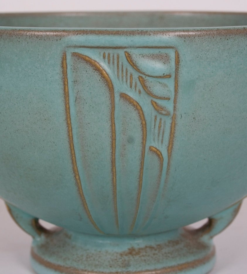 "American Roseville Pottery ""Moderne"" Design Bowl 1936 For"