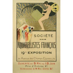 French Art Nouveau Period Art Exhibition Poster by de Monvel, 1897