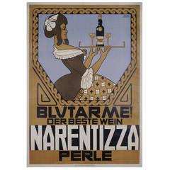 Austrian Secessionist Period Wine Poster by Georg Jilovsky, circa 1910