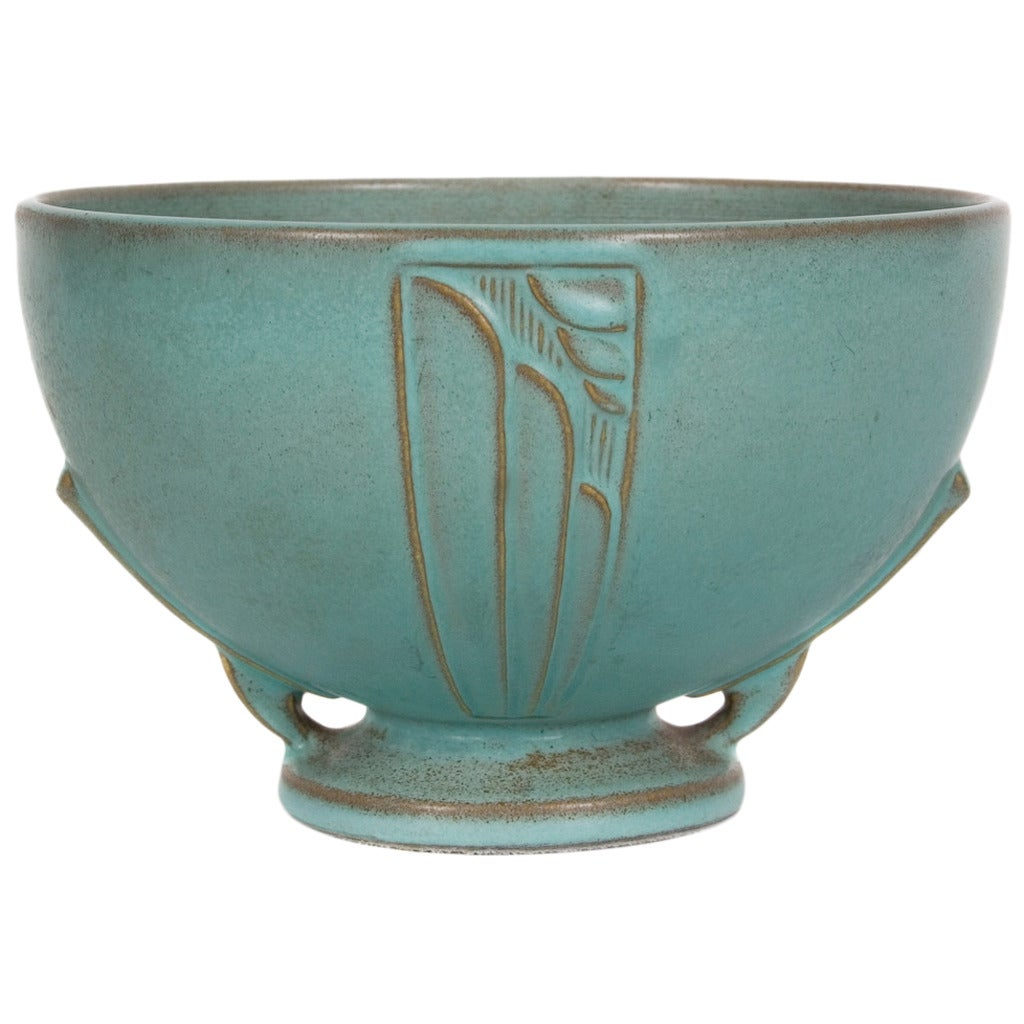 American Roseville Pottery Moderne Design Bowl 1936 For Sale At 1stdibs