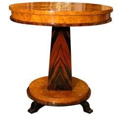 Hungarian Biedermeier Maple Side Table with Star Veneer Detail, circa 1830