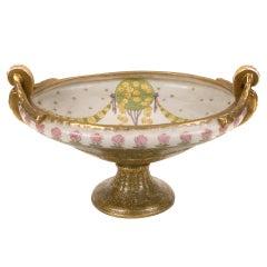 Austrian Art Nouveau Period Ceramic Bowl by Amphora, circa 1905-1910