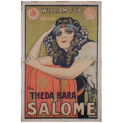 "French 1918 Theda Bara Film Poster by Emilio Vila, 47"" x 31"""