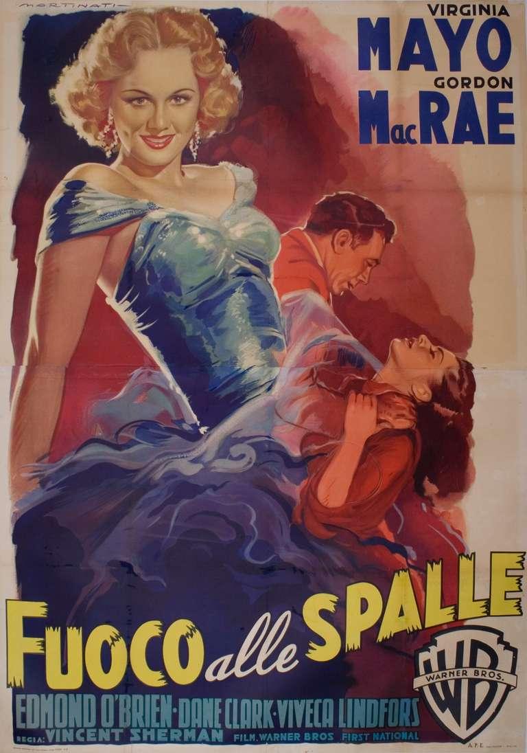 Mid-Century Italian Film Poster by Luigi Martinati, 1952 ...