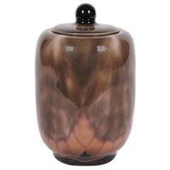 French Art Deco Period Lidded Ceramic Jar by Camille Tharaud, circa 1920s