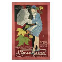 Austrian Secessionist Period Fashion Poster, 1910