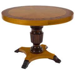 """Danish Satinwood """"Hi/Low"""" Table, circa 1940"""