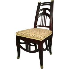 Single Austrian Secession Period Side Chair, circa 1910