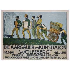 Swiss Art Exhibition Poster by Ernst Bolens, 1912