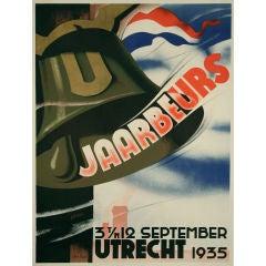 Dutch Art Deco Period Event Poster by Agnes Canta, 1935