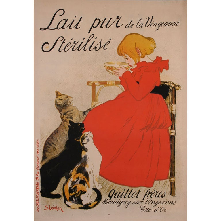 Original Antique Poster One Of Steinlen S Most Famous At