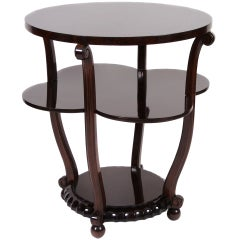French Art Deco Period Walnut Side Table, circa 1930s