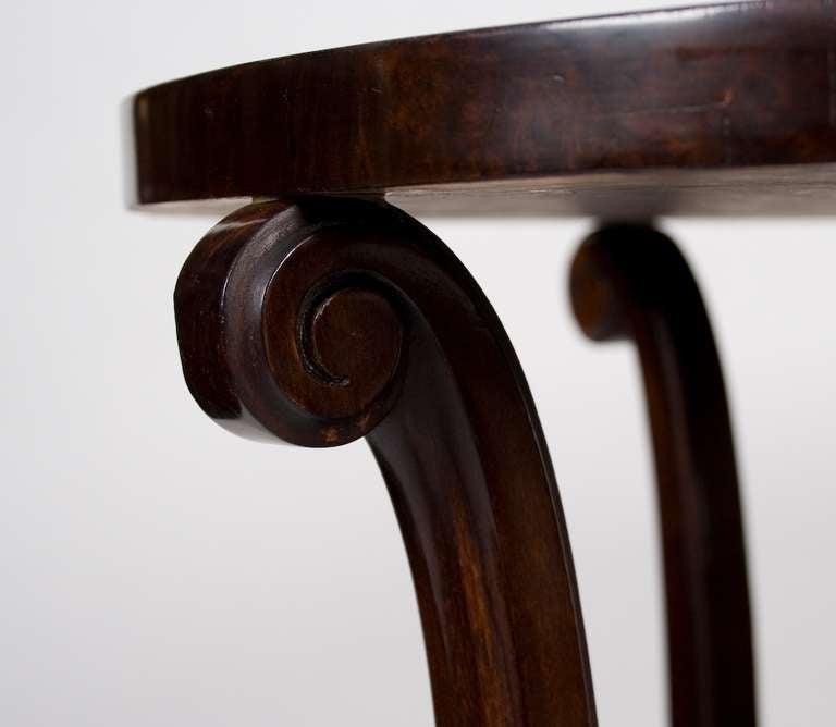 French Art Deco Period Walnut Side Table, circa 1930s 3