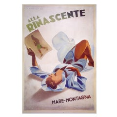 Italian Fashion Poster by Marcello Dudovich, circa 1940