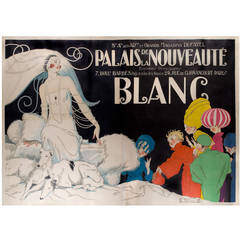 Monumental French Art Deco Period Poster by Rene Vincent, circa 1920s