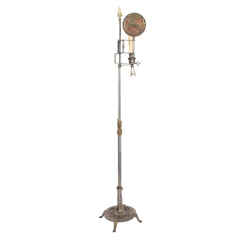 this art deco floor lamp by oscar bach is no longer available. Black Bedroom Furniture Sets. Home Design Ideas