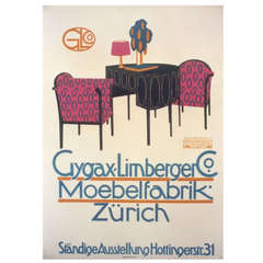 Swiss Furniture Poster by Otto Baumberger, 1911