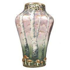Austrian Art Nouveau Period Ceramic Vase by Paul Dachsel, circa 1906-1910