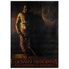 Dramatic Italian Turn of the Century Opera Poster by Giuseppe Palanti, 1900
