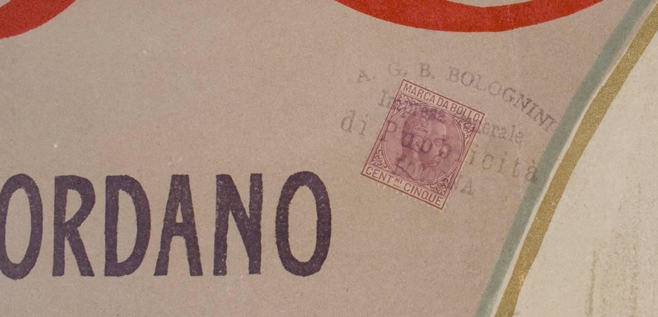 Italian Art Nouveau Period Opera Poster by Marcello Dudovich, 1899 3