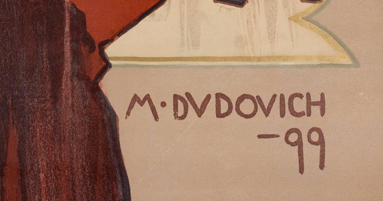 Italian Art Nouveau Period Opera Poster by Marcello Dudovich, 1899 4