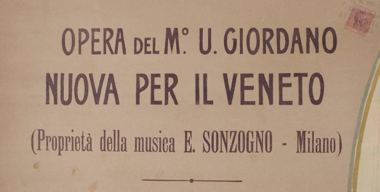 Italian Art Nouveau Period Opera Poster by Marcello Dudovich, 1899 5