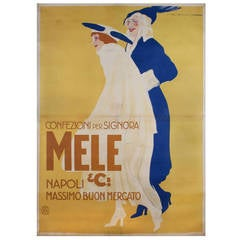 Large Italian Fashion Poster by Marcello Dudovich, circa 1911-1922