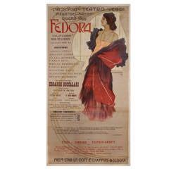 Italian Art Nouveau Period Opera Poster by Marcello Dudovich, 1899