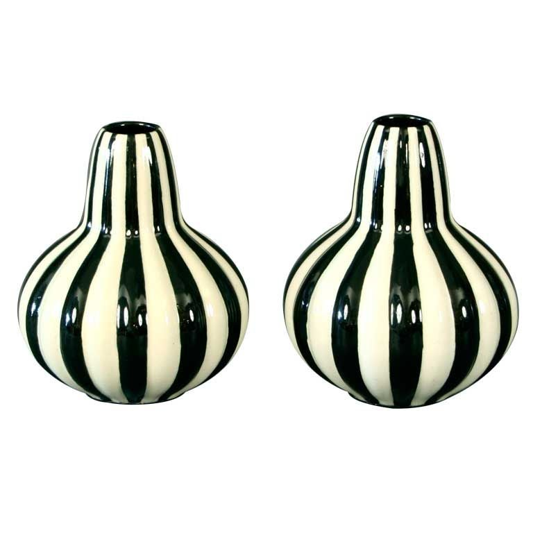 Pair Of German Art Deco Ceramic Vases By Velten Vordamm