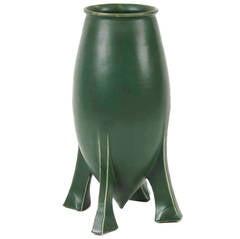 """Austrian Secessionist Period Ceramic """"Bullet"""" Vase, circa 1910"""