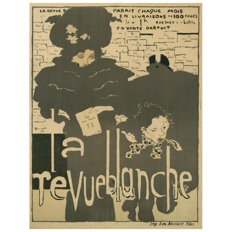 """""""La Revue Blanche,"""" an Original Antique Poster by Pierre Bonnard 1"""