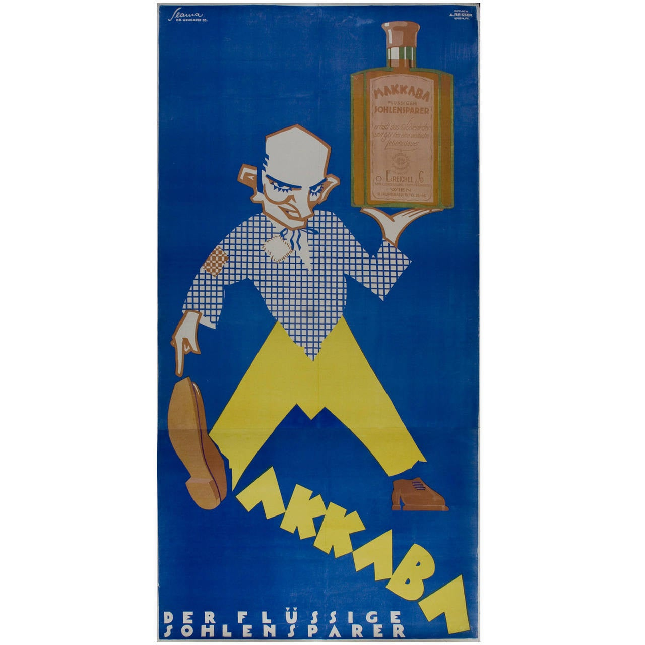 Austrian art deco period poster by victor slama circa for Art deco era dates