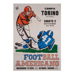 "Vintage Italian Poster for ""Football Americano"""