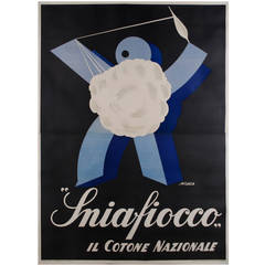 "Large Italian Futurist Period Poster by ""Araca,"" circa 1933"