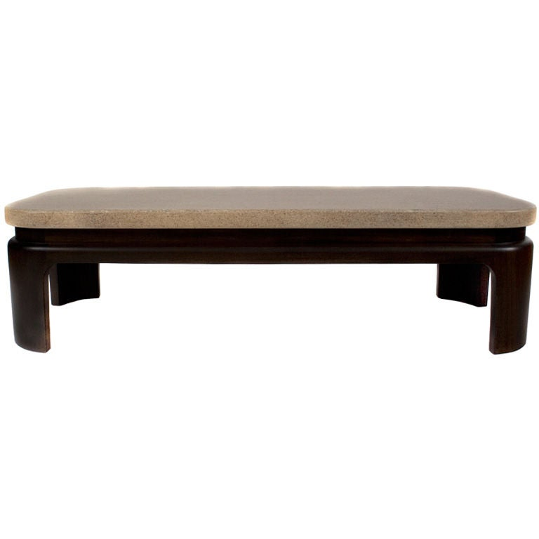 Paul Frankl Cork And Mahogany Coffee Table C 1950 At 1stdibs