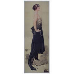 """Large Italian Poster by Corbella for """"The Most Beautiful Woman in the World"""""""