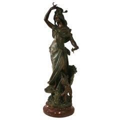 Belle Epoch Period Bronze Sculpture by Emile Bruchon