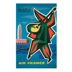 Vintage Air France Travel Poster by Guy Georget, 1963