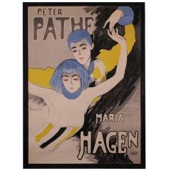 German Theatre Poster by Walter Schnackenberg, circa 1918
