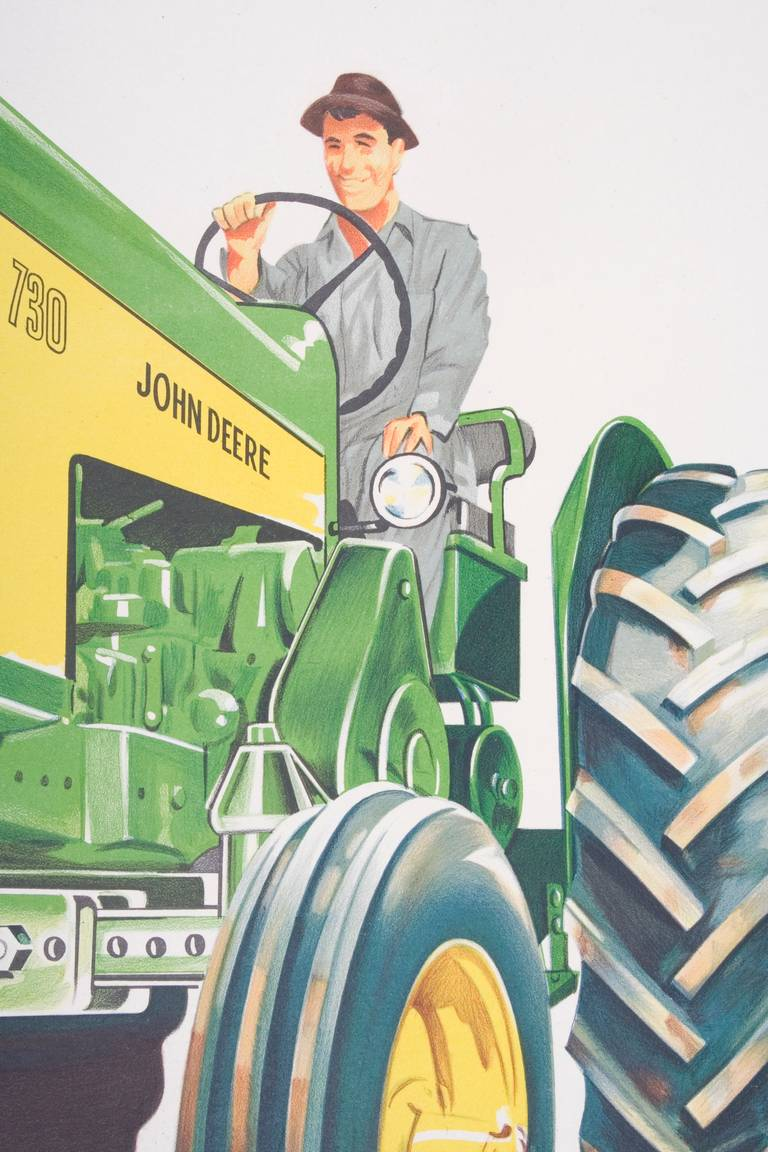 Vintage Argentinian John Deere Poster Circa 1950s For