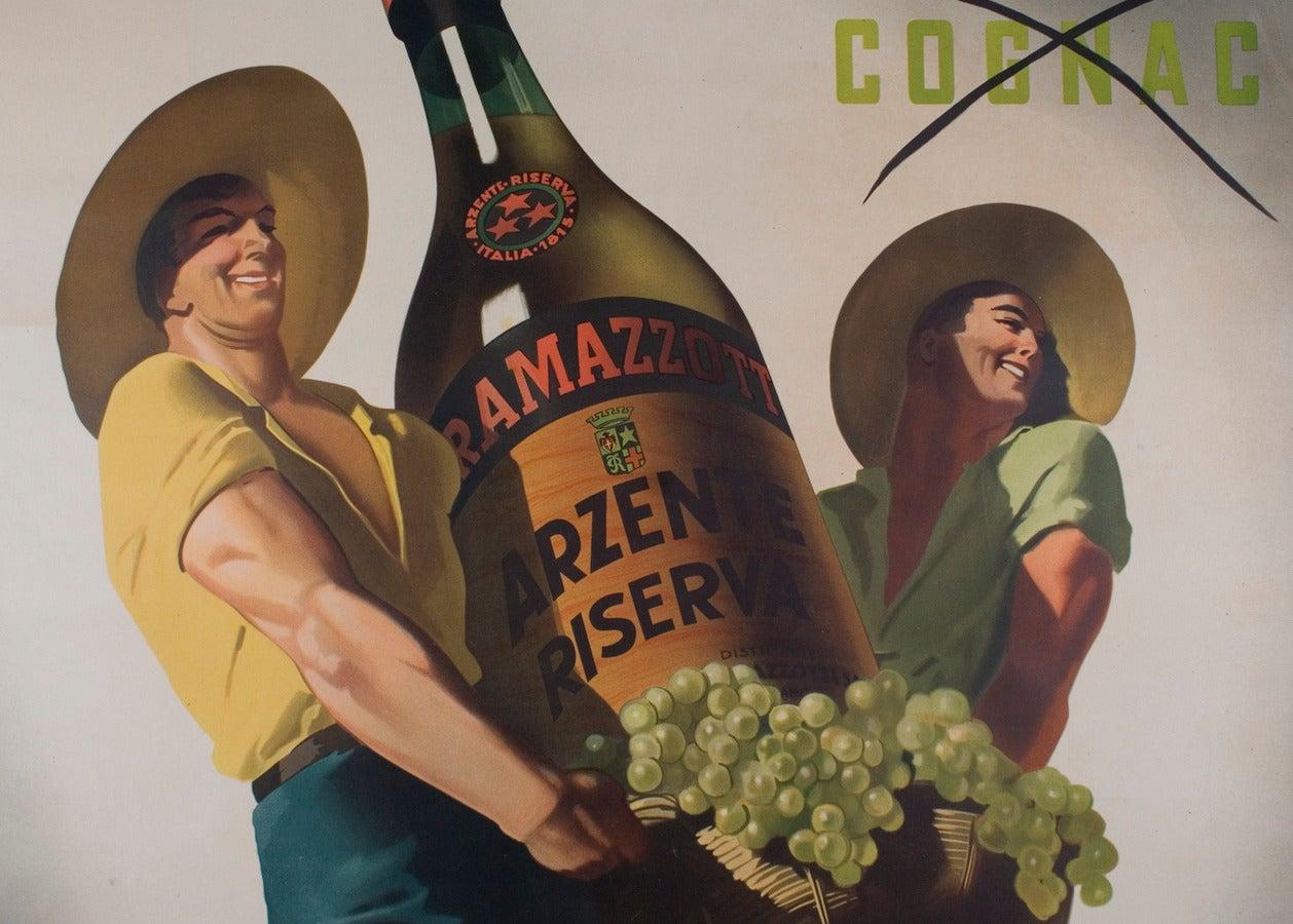 Large Italian Liquor Poster by Gino Boccasile, circa 1940 2