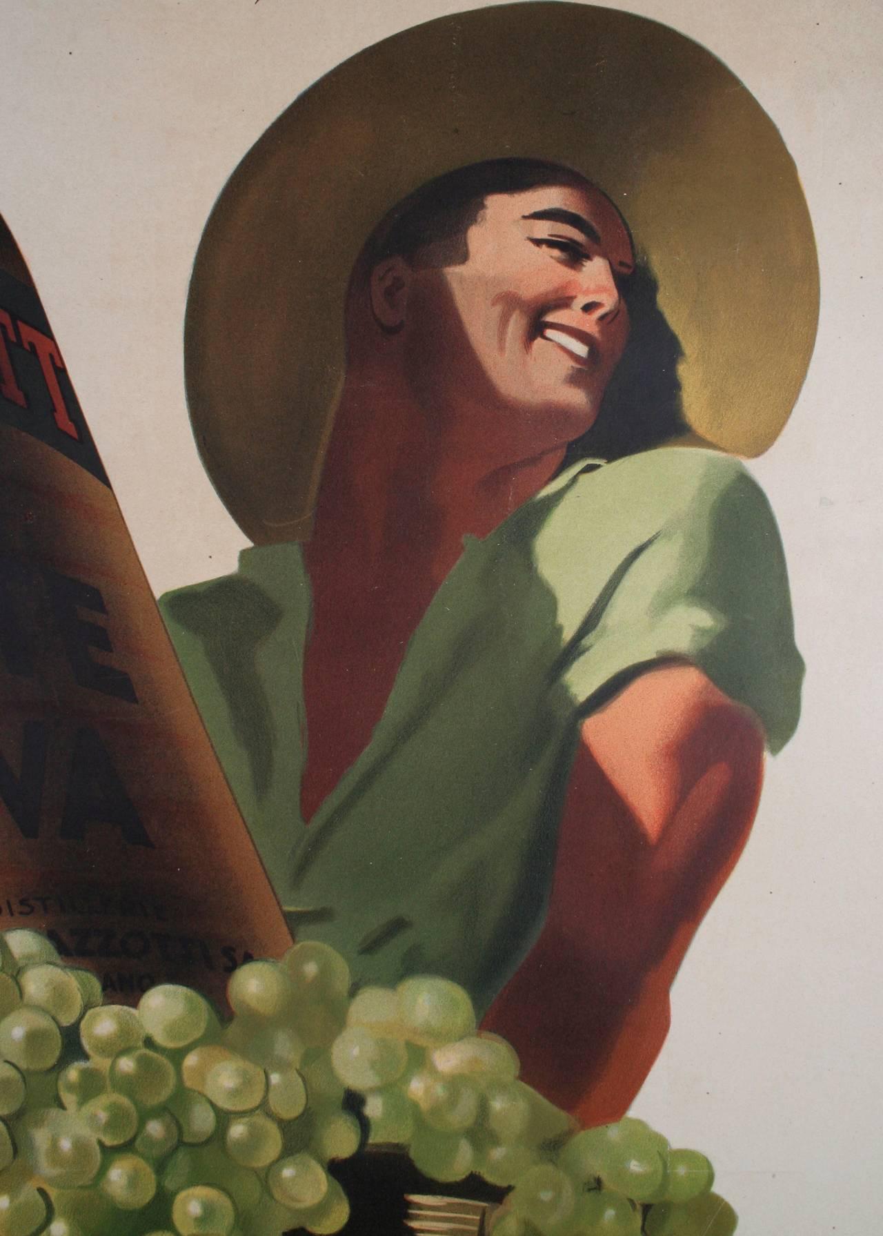 Large Italian Liquor Poster by Gino Boccasile, circa 1940 3