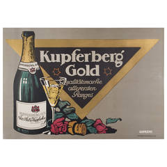 Early 20th Century German Champagne Poster by Julius Gipkens, 1905