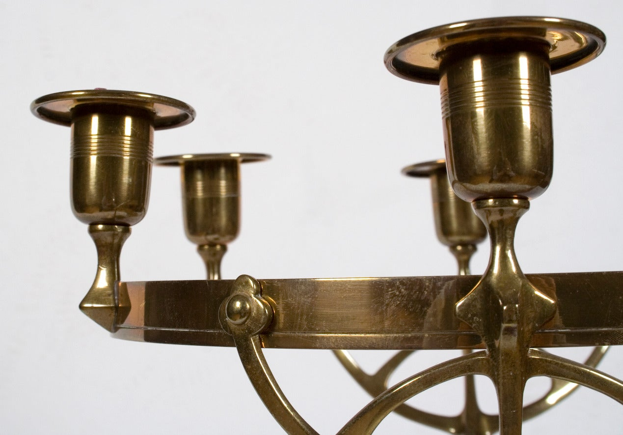german jugendstil brass owl candelabra circa 1890 1905