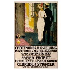 Swiss Jugendstil Style Poster by Burkhard Mangold, circa 1913