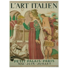French Art Exhibition Poster by Maurice Denis, 1935