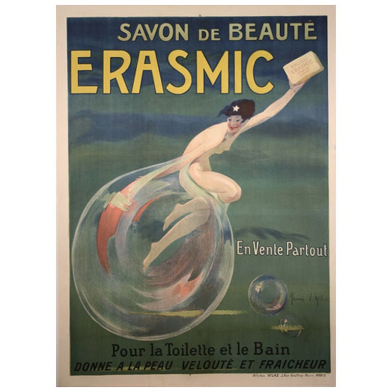 Original french art deco period poster by jean d 39 ylen at for Art deco era dates
