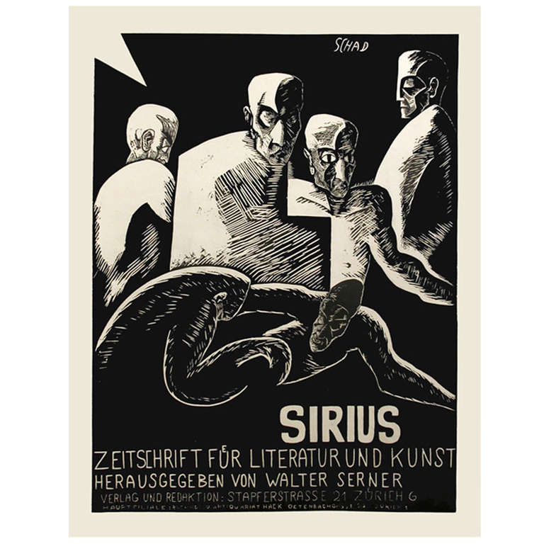 """""""Sirius,"""" a Swiss Expressionist Poster by Christian Schad, 1915 1"""