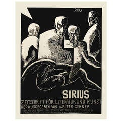 """""""Sirius,"""" a Swiss Expressionist Poster by Christian Schad, 1915"""