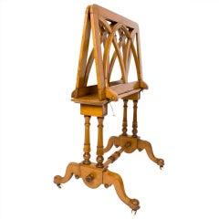 English Walnut Art Folio Stand, circa 1890